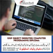 OOP Object Oriented Computer Programing Diploma in Sialkot