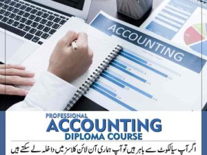A Professional Accounting Diploma Short Course in Peachtree Tally Quickbooks Excel Accounting in Sialkot