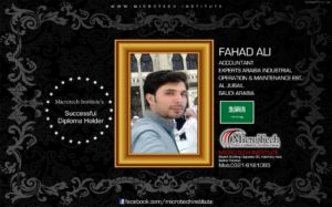 FAHAD ALI microtech institute college computer short course diploma in sialkot-min