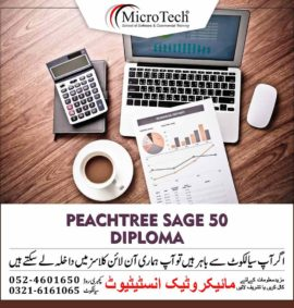 Peachtree Sage 50 By Sage USA Bookkeeping in Computerized Accounting Software Diploma Short Course in Sialkot