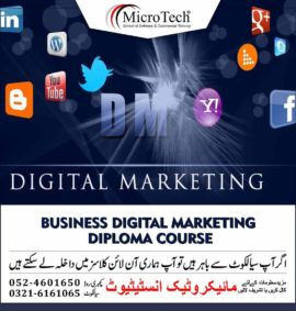 Business Digital Marketing Diploma Course in Sialkot